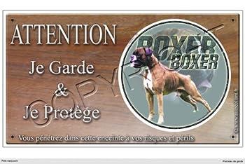 Panneau chien ou plaque Boxer-03 20 cm