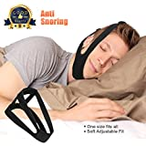 Dreamerd Anti Snoring Chin Strap,Adjustable Stop Snoring Jaw Strap Support Mouth Breathing Strap