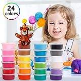 Migimi Springknete, Hüpfknete für Kinder Flummimasse Kinderknete Mitgebsel für Kindergeburtstag Geschenk Knete DIY Handgemachtes Lernen Springknete - 24 Farben