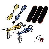 SODIAL(R) Mini Finger Sport Skateboards con metallici endoluminali / giocattolo educativo a dito