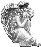 Schlafender Engel aus Steinguss, frostfest
