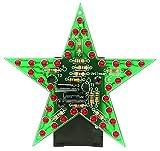 blinkender LED-Stern - rot -Bausatz-