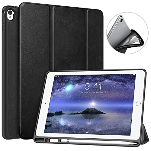 bac0cf9a4e MoKo Case for iPad Pro 9.7 with Apple Pencil Holder - Slim Lightweight  Smart Shell Stand