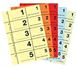 AVERY Zweckform 867-5 Garderobennummern (A6, 500 Abrisse Nr. 1-500) 5 Stück farbig sortiert
