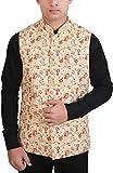 #9: La Rainbow Casual Silk Blend Printed Nehru Jacket For Men/Boys