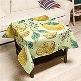 Max Home@ Nappe Nappe Lemon & Coton Tissu Pastoral Vent Kitchen Table Pad Place Coffee épaissie Nappe ménages ( taille : 110*110 Cm )