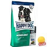 HAPPY DOG Fit&Well Medium Adult HDFME +BALL Gratis Hundefutter von 11 - 25 kg Medium-Rassen (4 kg)