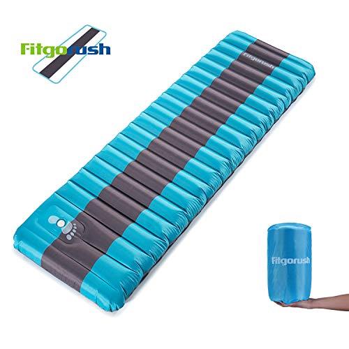 Materassino gonfiabile da campeggio di fitgorush materasso ad aria portatile ultraleggero comodo per escursione spiaggia montagna mare 1 persona blu