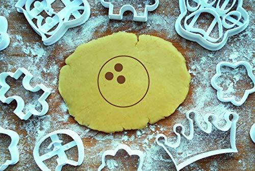 Bowling Kugel Ausstechform 5cm Präge-Ausstecher Pin 3D Keksausstecher Backen Plätzchen Cookie Cutter Fondant Cookie-pin