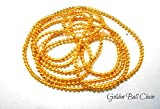 #6: shiny golden ball chain for bangle,jhumki,jewelry making pack of 1 meters