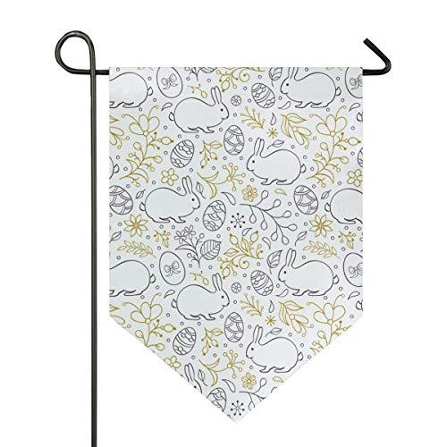 asen-Eier Garten Flagge doppelseitig Polyester Hofflagge für Haus Haus Outdoor Dekoration 30,5 x 45,7 cm, Polyester, Multi, 28x40 Inch ()