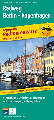 Radweg Berlin - Kopenhagen: Leporello Radtourenkarte mit Ausflugszielen, Einkehr- und Freizeittipps, wetterfest, reißfest, abwischbar, GPS-genau. 1:50000 (Leporello Radtourenkarte/LEP-RK)