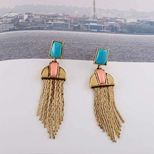 Orecchini a bottone donna,oro antico geometrica di resina pietre colorate catena mais fiocco orecchini in acrilico di moda nuziale di partito orecchio accessori di gioielli,antichi placcato in oro