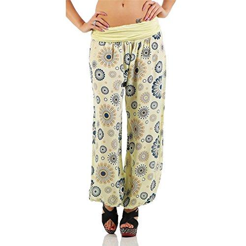 8afd74d0b12c ZARMEXX Damen Pumphose Harem-Stil Sommerhose Yoga Pants all over Print One  Size