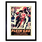 The Art Stop Movie Film AD Plein GAZ NO Limit Formby Framed Print F97X3403