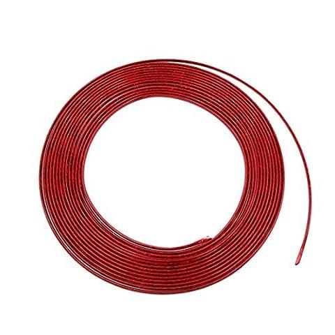 DealMux 15M Länge Red Auto Auto-Tür-Kantenschutz Interieur Exterieur Moulding Trim-Schutz-Streifen