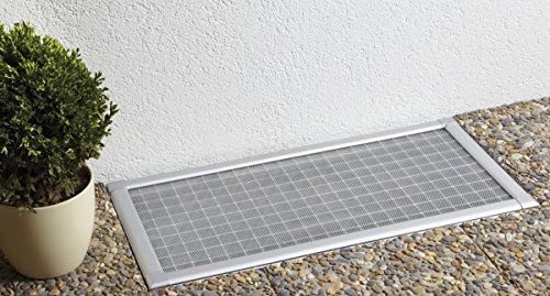 Kellerschacht Lichtschacht-Abdeckung mit Rahmen silber Bausatz bis 115 x 60 cm