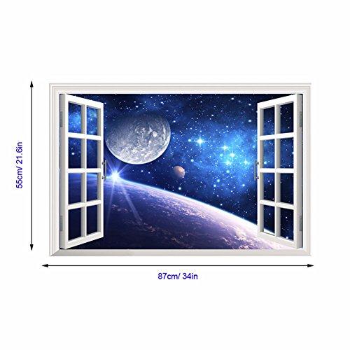 Decorazioni di natale per halloween 3d (stella), parete finta finestra / stereo / camera da letto / salotto / background / decorazione / adesivo / pvc / turno (60 * 90cm)