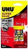 Uhu 45415 - Sekundenkleber Blitzschnell Minis 3 x 1G