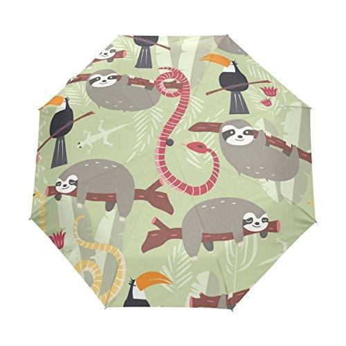 ZLFのLOVE zlfのlove Individuelle Cute Baby Faultier Baum Blumen Faltbar Regenschirm