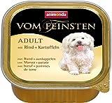 Animonda Vom Feinsten Adult, Nassfutter für ausgewachsene Hunde von 1-6 Jahren, mit Rind + Kartoffeln, 22 x 150 g