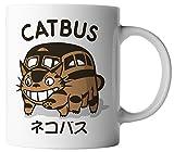 vanVerden Tasse Mein Nachbar Catbus Anime Katzenbus Manga Cosplay inkl. Geschenkkarte, Farbe:Weiß/Bunt