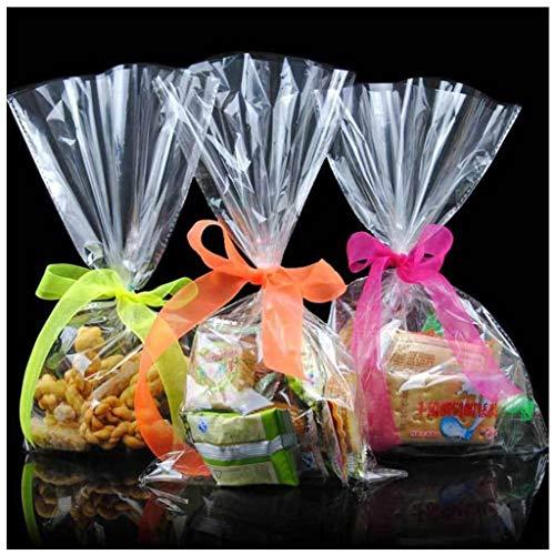 BIEE Transparente Zellophan-Tasche Keks-Taschen Bottom Bag Unbedruckt für Candy Gift (100 Stück)