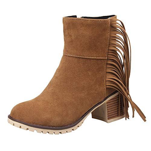 b986dde04 Bohemian Ethnic National Mujer Borla Flecos Botines Zapatos con Cremallera  Botines LILICAT® Bohemio Borla Botas