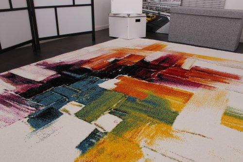Tappeto Moderno Splash Di Design Tappeto Colorato A Pennellate Nuovo ...