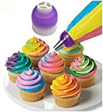 Demarkt Icing Piping Bag Nozzle Converter Tri-color Cream Coupler Cake Decorating Tools