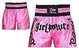 Evo Femmes Muay Thai Short MMA Coup de Pied Boxe Grappling Arts Martiaux rouage UFC Fille - Rose, Medium