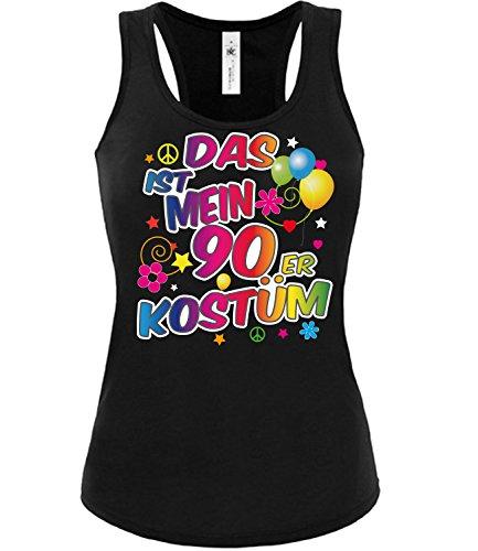 90er Kostüm Karneval Fasching Motto Schlager Party Frauen Tank Top T-Shirt Schlagertshirt Kleidung Mottoparty Schlagerfanartikel Schlagerkleidung