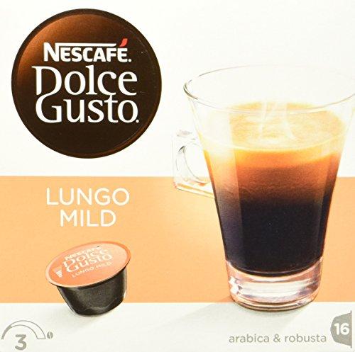 Nescafé Dolce Gusto Kaffeekapseln, Lungo Mild, 48 Kapseln für 48 Getränke
