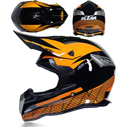 Qianliuk Motorrad Full Face Helme Carbonfaser Cross-Country-Sicherheits Helme FahrradHelm Männer