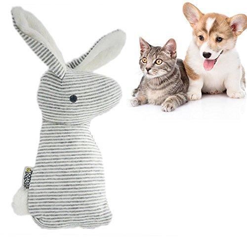 OCHO8 Pet Rabbit Plüsch-Stoffspielzeug Soft Chew Sound Spielzeug Hundespielzeug Welpenspielzeug für Welpen, kleine Hunde und Katzen (Pet-soft-schleife)
