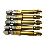 MagiDeal 5pcs S2 Hex Schaft Magnetische Schraubenzieher Verlängerung Bithalter