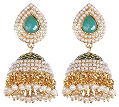 Shining Diva Stylish Traditional Gold Plated Jhumki Earrings For Women