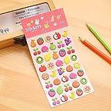 Dessin animé mignon bulle coton autocollant décoration de téléphone portable autocollant journal autocollant bulle autocollant Des fruits