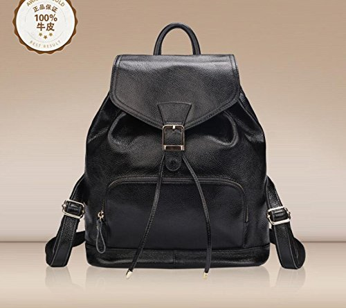 DJB/ Lässig Rucksack Rucksack Handtasche aus Leder Black