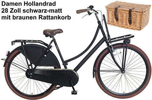 damen-hollandrad-28-zoll-carrier-schwarz-mit-korb