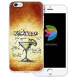 dessana Cocktail Rezepte Transparente Silikon TPU Schutzhülle 0,7mm Dünne Handy Tasche Soft Case für Apple iPhone 6/6S Plus Kamikaze