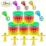 Mitgebsel Kindergeburtstag Gastgeschenke für Kinder,Junge und Mädchen, MMTX Mitbringsel Giveaways Mitgebsel Spielzeug für Party(5pc Springs Magic Rainbow+5pc glibber klatsch+5pc Streckbar Smiley Glibber)