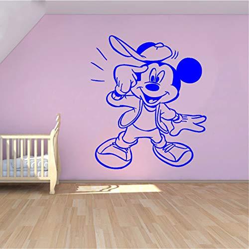 Creativo Nuovo Fai da Te Carino Mouse Divertente Personalizzato per Bambini Nome Adesivi murali Bambino per camerette Decorazione della casa Adesivi murali # WW-3 97x115 cm
