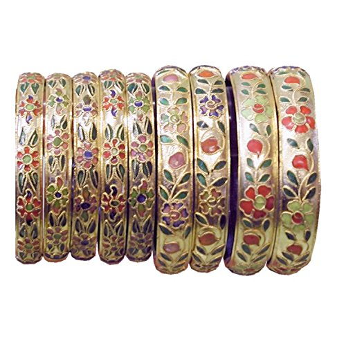 oriental-caja-de-oro-floral-estilo-multicolor-de-cinco-cloisonne-pulseras-ma