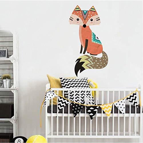 Liafa Woodland Fox Cartoon Animal Wall Decals Living Room Wall Stickers For Kid Room Murals Gift Vinyl Wallpaper Home Decor Party Wanddeko Layer Aufkleber