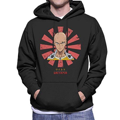 Saitama Retro Japanese One Punch Man Men's Hooded Sweatshirt