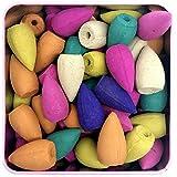 #9: Rudra. Reverse Backflow Incense Cones Multi Color with Fragrant Cones