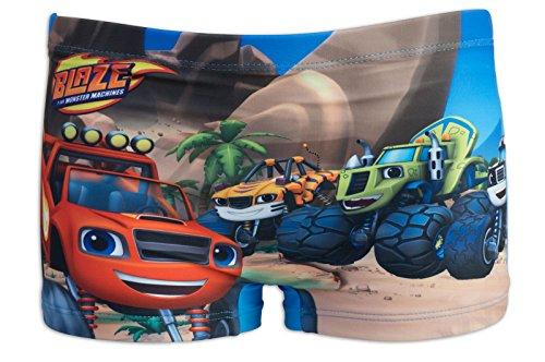 Blaze e le mega macchine - costume costumino 1 pz boxer full print - mare piscina - bambino - novità prodotto originale 8691re [azzurro - 3 anni - 98 cm]