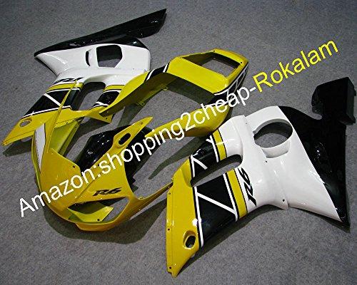 Jaune Noir Blanc Carénage pour Yzfr6 YZF 600 R6 1998-2002 98 99 00 01 02 Yzf-r6 Moto ABS de pièces (Moulage par injection)