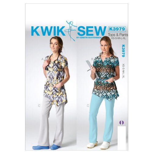 Kwik Sew Patterns K3979 Misses Top and Pants Sewing Template, All Sizes by KWIK-SEW PATTERNS